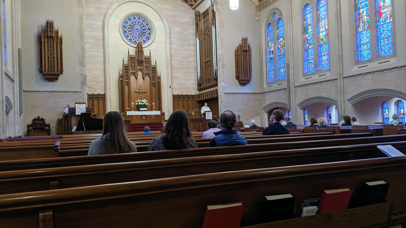 what churches in Lincoln park have in-person worship as of Spring 2021?